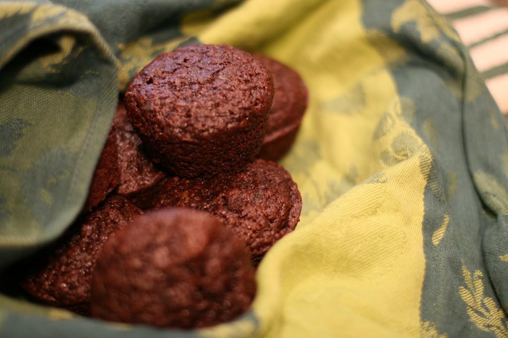spicy chocolate zucchini muffins